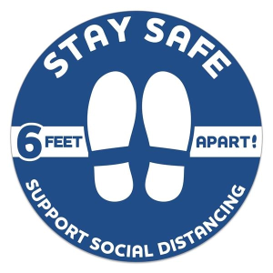 Circle Stay Safe Floor Decals