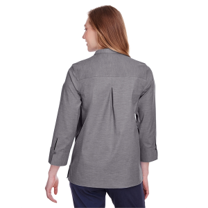 Devon & Jones® Ladies' Crown Collection™ Stretch Pinpoint Chambray 3/4 Sleeve Blouse